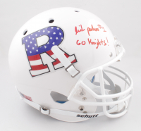"""Isaih Pacheco Signed Rutgers Scarlet Knights Full-Size Helmet Inscribed """"Go Knights"""" (JSA COA) at PristineAuction.com"""