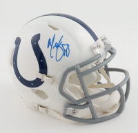 Marvin Harrison Signed Colts Speed Mini Helmet (JSA COA) at PristineAuction.com