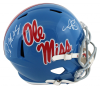 D.K. Metcalf & A.J. Brown Signed Ole Miss Rebels Full-Size Speed Helmet (Beckett COA) at PristineAuction.com
