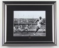 Jesse Owens Team USA 13x16 Custom Framed Photo with Vintage Brass Pin at PristineAuction.com