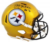 "Jack Lambert Signed Steelers Full-Size Flash Alternate Speed Helmet Inscribed ""HOF 90"" (JSA COA) at PristineAuction.com"