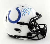 """Peyton Manning Signed Colts Full-Size Authentic On-Field Lunar Eclipse Alternate Speed Helmet Inscribed """"HOF 21"""" (Fanatics Hologram) (See Description) at PristineAuction.com"""