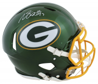 Davante Adams Signed Packers Full-Size Authentic On-Field Flash Alternate Speed Helmet (Beckett Hologram) at PristineAuction.com