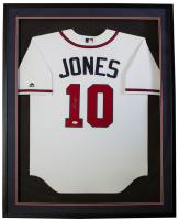 Chipper Jones Signed Braves 32x36 Custom Framed Jersey Display (JSA COA) at PristineAuction.com