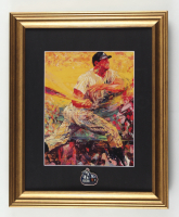 """LeRoy Neiman """"Mickey Mantle"""" 14x16 Custom Framed Print Display with Yankees 1951 World Series Champion Pin at PristineAuction.com"""