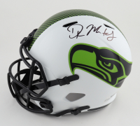 DK Metcalf Twice-Signed Seahawks Full-Size Lunar Eclipse Alternate Speed Helmet (Beckett COA) (See Description) at PristineAuction.com