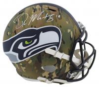 DK Metcalf Signed Seahawks Full-Size Camo Alternate Speed Helmet (Beckett COA) at PristineAuction.com