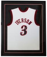 Allen Iverson Signed 76ers 32x36 Custom Framed Jersey (PSA COA) at PristineAuction.com