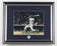 Reggie Jackson Signed Yankees 13x16 Custom Framed Display with #44 Yankees Jackson Retirement Pin (Beckett COA) at PristineAuction.com