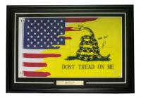 "Robert O'Neill Signed 34x46 Custom Framed Flag Display Inscribed ""Never Quit!"" (PSA COA) at PristineAuction.com"
