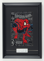 """1990 Marvel """"Spider-Man"""" 12x17 Custom Framed First Issue Silver Variant Edition Comic Book Display at PristineAuction.com"""