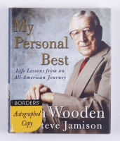"""John Wooden Signed """"My Personal Best: Life Lessons from an All-American Journey"""" Hardcover Book (JSA COA & PSA COA) at PristineAuction.com"""