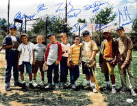 """""""The Sandlot"""" 16x20 Photo Cast-Signed by (8) with Tom Guiry, Patrick Renna, Chauncey Leopardi, Marty York with Multiple Inscriptions (JSA COA) at PristineAuction.com"""