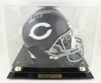 """Gale Sayers Signed Bears Full-Size Throwback Helmet Inscribed """"HOF- 77"""" with Display Case (PSA Hologram & Sayers Hologram) (See Description) at PristineAuction.com"""