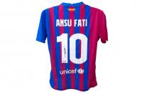 Ansu Fati Signed Barcelona Jersey (Beckett COA) at PristineAuction.com