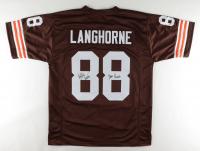 """Reggie Langhorne Signed Jersey Inscribed """"Dawg Pound"""" (JSA Hologram) at PristineAuction.com"""