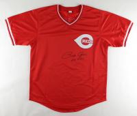 """Pete Rose Signed Jersey Inscribed """"Hit King"""" (JSA Hologram) at PristineAuction.com"""