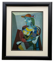 """Pablo Picasso """"Portrait Of Marie Therese Walter"""" 18x20 Custom Framed Print at PristineAuction.com"""