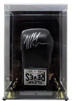 Mike Tyson Signed Cleto Reyes Boxing Glove with Display Case (JSA COA & Tyson Hologram) at PristineAuction.com