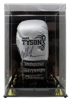 Mike Tyson Signed Custom Boxing Glove with Display Case (JSA COA) at PristineAuction.com
