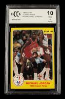 Michael Jordan 1986 Star Court Kings #18 (BCCG 10) at PristineAuction.com