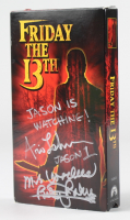 """Ari Lehman & Betsy Palmer Signed """"Friday The 13th"""" VHS with Multiple Inscriptions (JSA COA) at PristineAuction.com"""