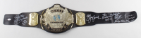WWE World Heavyweight Champion Belt Signed by (6) with Jerry Lawler, Jimmy Hart, Ricky Steamboat, Koko B. Ware with Multiple Inscriptions (JSA COA) at PristineAuction.com
