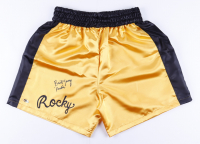 """Burt Young Signed Boxing Trunks Inscribed """"Paulie"""" (MAB Hologram) at PristineAuction.com"""