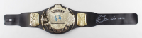 """Ric Flair Signed WWE World Heavyweight Champion Belt Inscribed """"HOF 08-12"""" (JSA COA) (See Description) at PristineAuction.com"""