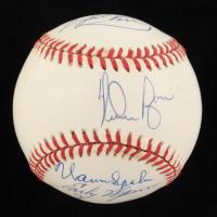 """300 Win Pitchers"" OAL Baseball Multi-Signed by (8) with Nolan Ryan, Warren Spahn, Tom Seaver, Steve Carlton (JSA ALOA) at PristineAuction.com"