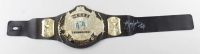 """Jerry """"The King"""" Lawler Signed WWE World Heavyweight Champion Belt Inscribed """"WWE HOF 07"""" (JSA COA at PristineAuction.com"""