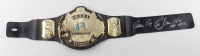 Ric Flair Signed WWE World Heavyweight Champion Belt with Multiple Inscriptions (JSA COA) (See Description) at PristineAuction.com