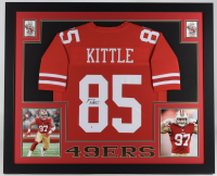 George Kittle Signed 35x43 Custom Framed Jersey Display (Beckett COA) at PristineAuction.com