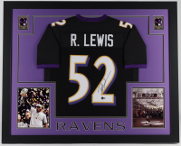 Ray Lewis Signed 35x43 Custom Framed Jersey Display (Beckett Hologram) at PristineAuction.com