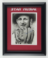 Stan Musial Signed Cardinals 13.5x17 Custom Framed Photo (Beckett LOA) (See Description) at PristineAuction.com