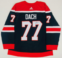 Kirby Dach Signed Blackhawks Throwback Jersey (Fanatics Hologram) at PristineAuction.com