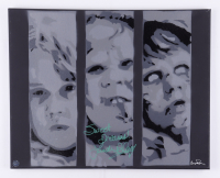 """Linda Blair Signed """"The Exorcist"""" 16x20 Canvas Painting Inscribed """"Sweet Dreams!"""" (Legends COA) at PristineAuction.com"""