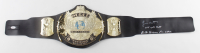 """Jimmy Hart Signed WWE World Heavyweight Champion Belt Inscribed """"Mouth of the South"""" & """"Hulk Hogan For Life!"""" (JSA COA) at PristineAuction.com"""
