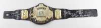 WWE World Heavyweight Champion Wrestling Belt Signed by (6) with Jerry Lawler, Jimmy Hart, Ricky Steamboat, Koko B. Ware with Multiple Inscriptions (JSA COA) (See Description) at PristineAuction.com
