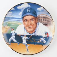 Duke Snider Signed LE Dodgers Gold Edition Collectors Plate (JSA COA) at PristineAuction.com