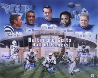 """""""Baltimore Colts Hall of Famers"""" 16x20 Photo Signed by (4) with Lenny Moore, Art Donovan, Gino Marchetti & Raymond Berry with HOF Inscriptions (Beckett LOA) at PristineAuction.com"""