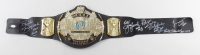 WWE World Heavyweight Champion Wrestling Belt Signed by (6) with Jerry Lawler, Jimmy Hart, Ricky Steamboat, Koko B. Ware with Multiple Inscriptions (JSA COA) at PristineAuction.com