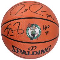 "Paul Pierce & Kevin Garnett Signed NBA Game Ball Series Celtics Logo Basketball Inscribed ""HOF 21"" & ""HOF 20"" (Fanatics Hologram) at PristineAuction.com"