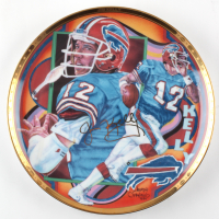 Jim Kelly LE Bills Gold Edition Collectors Plate at PristineAuction.com