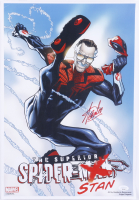 """Stan Lee Signed """"The Superior Spider-Stan"""" 13x19 Lithograph (JSA COA) at PristineAuction.com"""