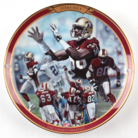 """Jerry Rice LE """"The Game's Greatest"""" Porcelain Plate at PristineAuction.com"""