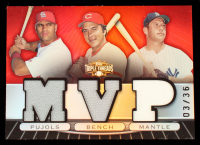 Albert Pujols / Johnny Bench / Mickey Mantle 2007 Topps Triple Threads Relics Combos #50 #3/36 at PristineAuction.com