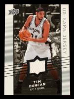 Tim Duncan 2008-09 Upper Deck Game Jerseys #GATD at PristineAuction.com