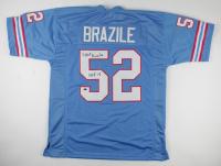 """Robert Brazile Signed Jersey Inscribed """"HOF 18"""" (Schwartz Sports Hologram) at PristineAuction.com"""