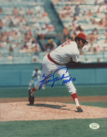 """Fergie Jenkins Signed Red Sox 8x10 Photo Inscribed """"HOF 91"""" (Hollywood Collectibles COA) at PristineAuction.com"""